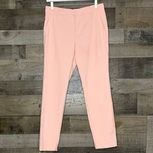 Slim Capri Pants Zara Woman Light Pink